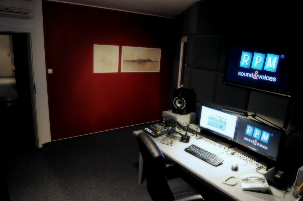 Polish recording studio. Polish voice overs